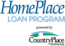 HomePlace Loan Program. Powered by CountryPlace Mortgage